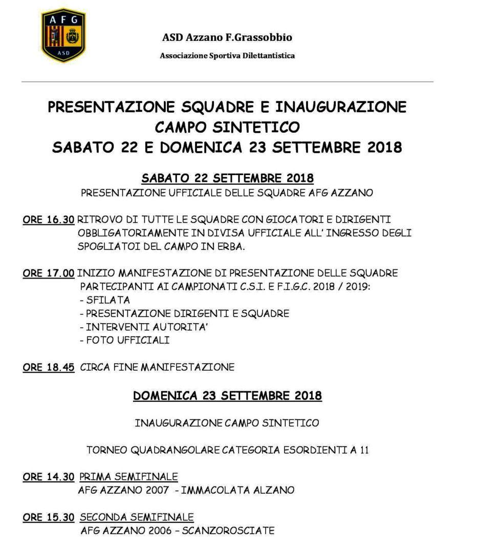 Calendario Settembre 2007.Azzano Fg Sabato 22 E Domenica 23 Settembre Presentazione